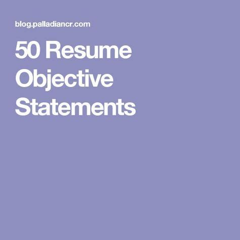 Sample teaching objectives for a resume